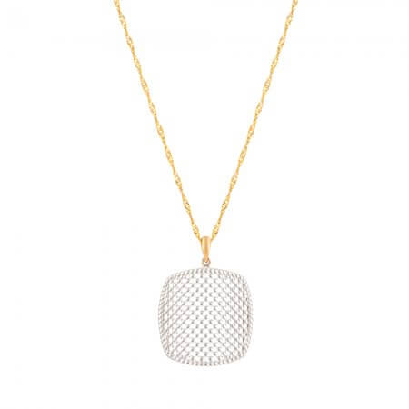 22 Carat Gold Pendant with Rhodium finish