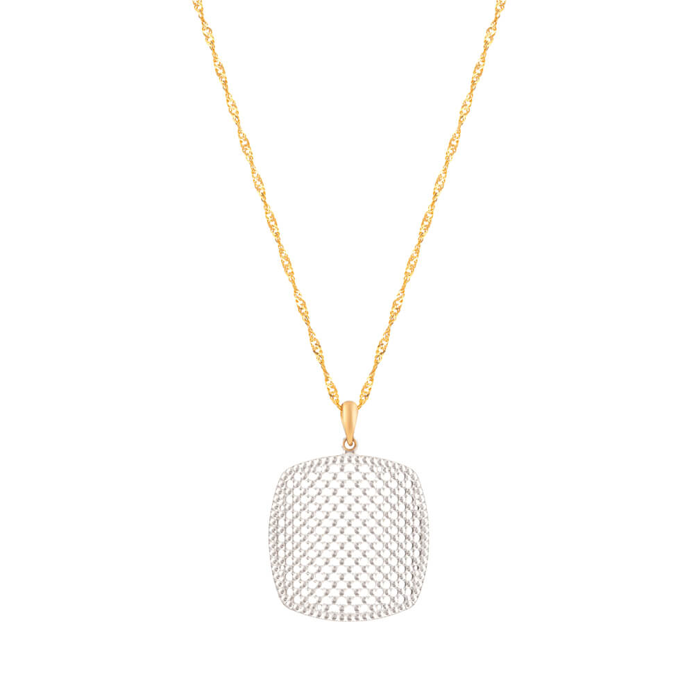 22 Carat Gold  pendant with Rhodium finishWeight of the pendant is  6 gmsSKU. 32654Chain not includedAll prices include VATAll our Products are Hallmarked by London Assay OfficeAll Sets Comes With Presentation BoxFree Delivery Across UKContact us/chat with us to explore 22 carat Gold jewellery online