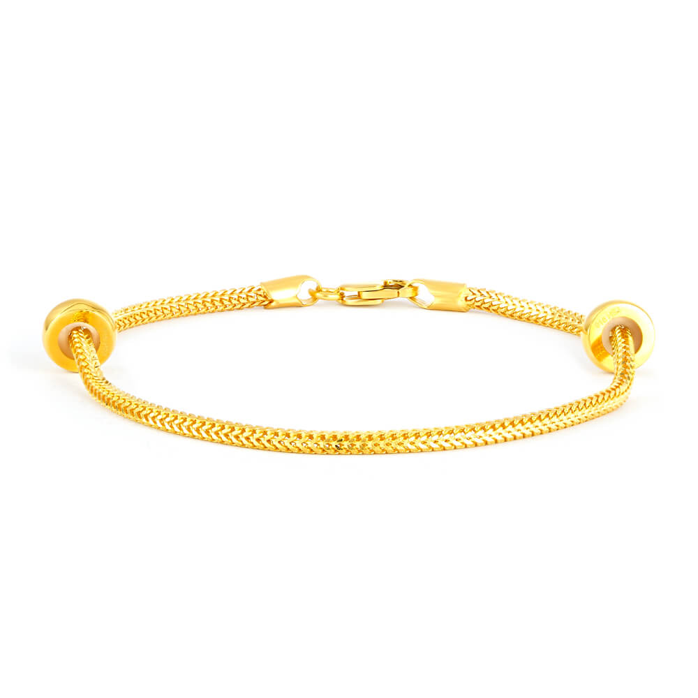 22ct Gold Bracelet for WomenStudded With Cubic Zirconia StonesWt. 17.8 gSKU. 32001All prices include VATAll our Products are Hallmarked by London Assay officeAll gold bracelets Comes With Presentation BoxDelivery IncludedContact us / Live chat with us to explore our collection of Indian Gold Bracelets UK.