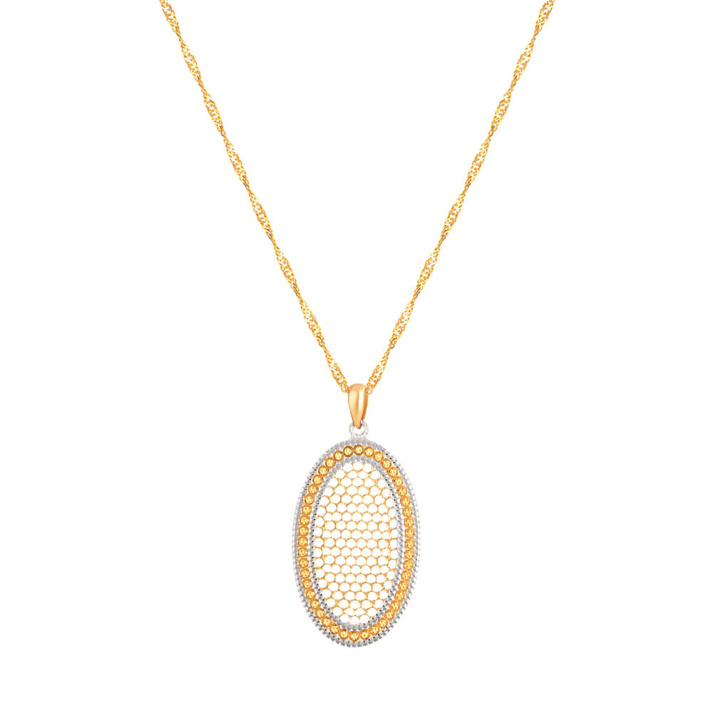 22ct Yellow Gold Filigree PendantWith Rhodium finishSuitable for Everyday wearWt. 4.4 gmsSKU. 32652Chain not included in the priceAll prices include VATAll our Products are Hallmarked by London Assay OfficeAll Sets Comes With Presentation BoxFree Delivery Across UKContact us / chat with us for the video of product