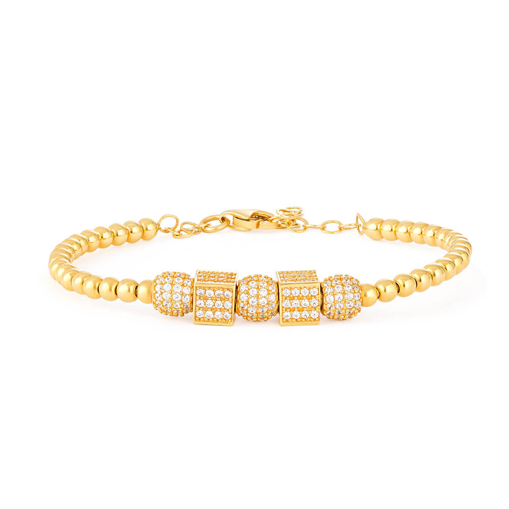 22ct Yellow Gold Cubic Zirconia BraceletWt. 12.4 gmsSKU. 28631All prices include VATAll 22 Carat Gold products  are Hallmarked by London Assay officeComes With Presentation BoxFree Delivery Across UKContact us / live chat with us for video of product