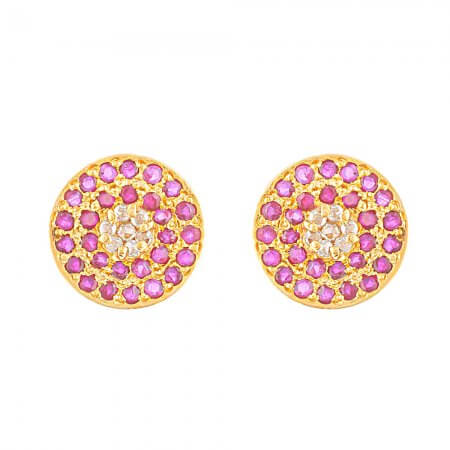 Diya 22ct Gold Stud Earring
