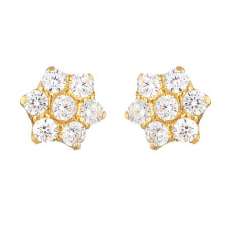 31745 - 22ct Gold Cubic Zirconia Stud Earring