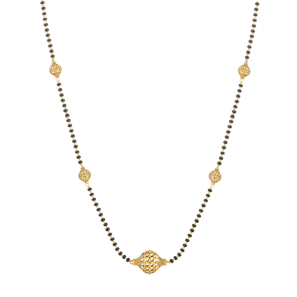 22ct Indian Gold Mangalsutra with Antique finishWt. 6.6 gmsLength. 16 InchesSKU 32710All prices include VAT22ct GoldHallmarked by London Assay OfficeComes With Presentation BoxDelivery IncludedLive chat with us for availability and more images of similar designs currently in stock