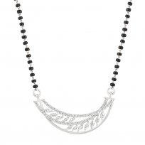 32017 - 18ct White Gold Single Chain Diamond Mangalsutra