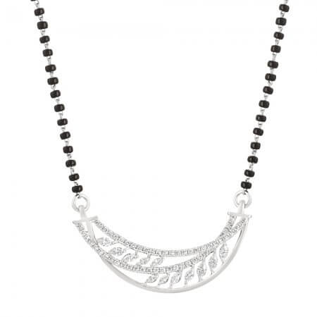 18ct White Gold Single Chain Diamond Mangalsutra