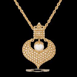 Diya Collection 22ct Gold Pendant 10.2gm Uncut Polki Diamond 2.06ct