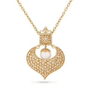 Diya Collection 22ct Gold Pendant 10.2gm Uncut Polki Diamond 2.06ct