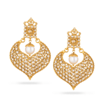 32682 - 22ct Gold Polki Earrings