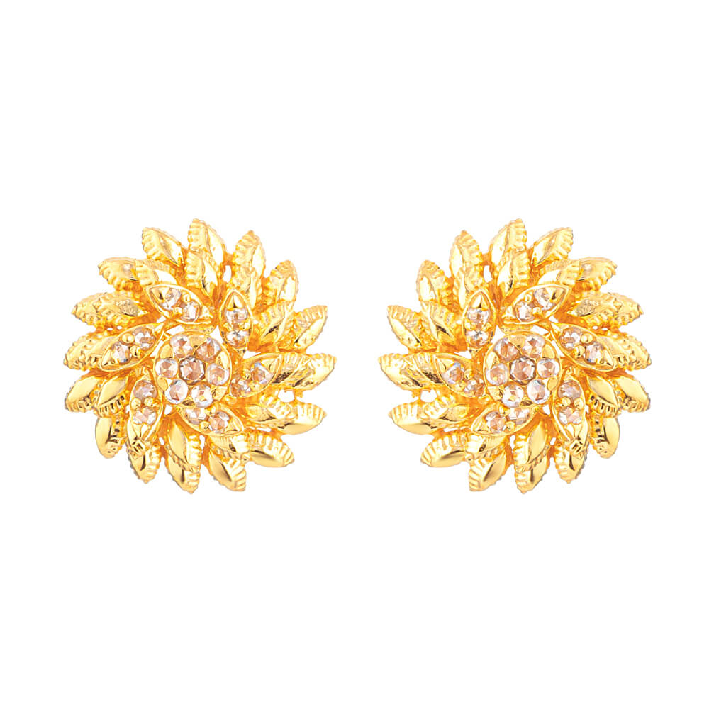 Diya 22ct Gold Stud Earrings With Uncut Polki DiamondsUncut Polki Diamond wt. 0.47 caratsWeight of the Earring in 22ct gold is 9.4 gSKU. 32688All prices include VAT22ct Gold Hallmarked by London Assay OfficeComes With Presentation BoxDelivery IncludedLive chat with us for availability and more images of similar designs currently in stock