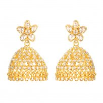 32664 - 22ct Gold Polki Earrings