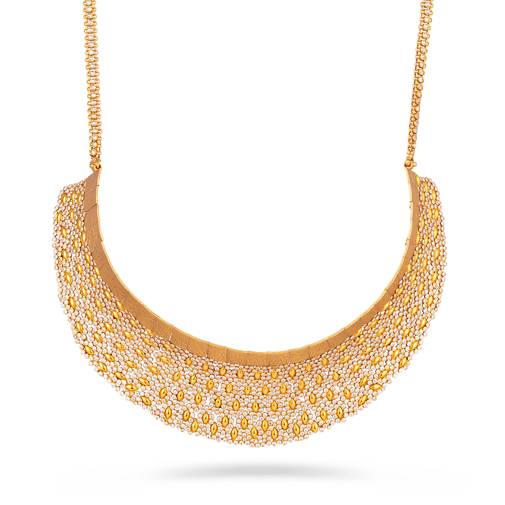 Anusha 22ct Gold Polki Bridal NecklaceWith Polki StonesRose Gold FinishWt. 86.0 gMatching Earrings are Available for this NecklaceAll prices include VATAll our Products are Hallmarked by London Assay OfficeAll Sets Comes With Presentation BoxDelivery IncludedContact us / Chat with us for Video of Product