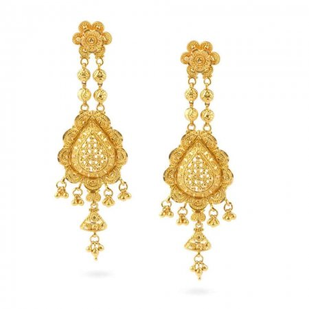 Jali 22ct Gold Filigree Earrings