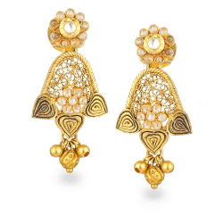 22ct Gold Earrings with Polki StonesWt : 8.4gmAll prices include VAT22ct Gold Hallmarked by London Assay OfficeComes With Presentation BoxDelivery IncludedLive Chat with us on Whatsapp to get more Images And Videos of This Product