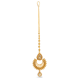 SKU : 2757022ct Gold Tika With Antique Finish, Kundan and Polki StonesWt: 11.4 gmsAll prices include VAT22ct Gold Hallmarked by London Assay OfficeComes With Presentation BoxDelivery IncludedLive chat with us for availability and more images of similar designs currently in stock