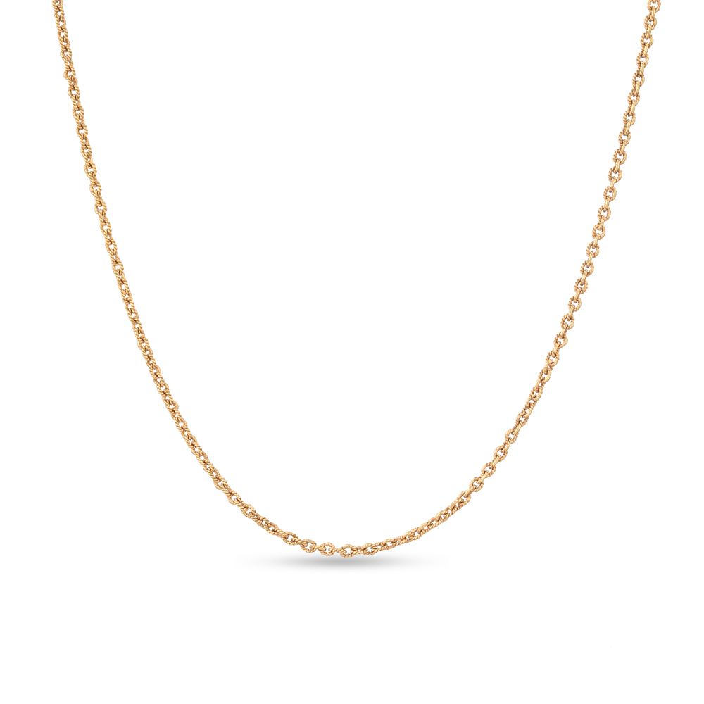 """22 Carat Gold Chainwith dull rose gold finishSuitable for heavy pendantsWt. 6.8 gSKU. 28817Length. 16"""" inchesAll our products are hallmarked by London Assay OfficeAll sets comes with presentation BoxDelivery IncludedAll prices include VATContact us / chat with us to see video of product"""