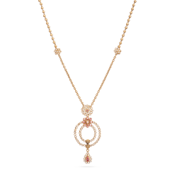 22ct Bridal Gold NecklacevWith Rose Gold Finish and Polki StonesWt. 15 gSKU. 28833All prices include VATAll our Products are Hallmarked by London Assay OfficeAll Set Comes With Presentation BoxDelivery IncludedChat with us to view the entire new range of Asian Bridal gold  Light Weight necklace and earring set uk available in our store at forest gate, London,UK