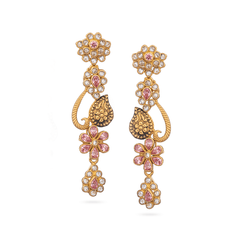 Anusha Indian Gold Earrings22ct Gold Earring From Anusha CollectionWith Antique Finish and Polki StonesWt. 8.6 gSKU. 28845All Our Products are Hallmarked by London Assay OfficeAll prices include VATComes With Presentation BoxDelivery IncludedLive chat with us for availability and more images of similar designs currently in stock