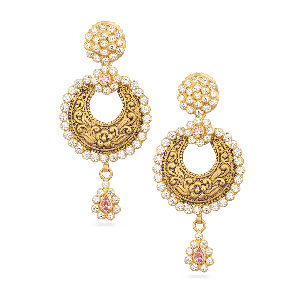 Asian gold Earring Studded With Polki stonesAntique and Rose Finish Earring From Anusha CollectionWt. 9.6 gSKU. 28880All our products are hallmarked by London Assay OfficeComes With Presentation BoxDelivery IncludedAll prices include VATChat with us to view the entire new range of Asian gold polki earring available in our store at Forest gate, London,UK
