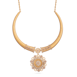 "Indian Gold Bridal Necklace Set22 Carat Gold Anusha Bridal NecklaceWith Uncut Polki DiamondsWt. 51.4 gSKU. 28891All prices include VAT22ct Gold Hallmarked by London Assay OfficeComes With Presentation BoxDelivery Included""Contact us / Live Chat with us to see our range of Bridal Necklace and earring Sets."""