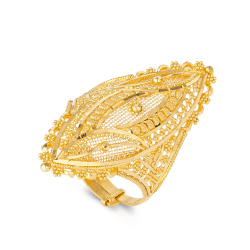 22ct Gold Ladies Ring with filigree designAdjustable in sizeRing wt. 6.6 g22ct Gold Hallmarked by London Assay OfficeComes With Presentation BoxDelivery IncludedAll prices include VATLive chat with us for availability and more images of similar designs currently in stock