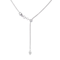 18ctWhite Gold Foxtail Adjustable ChainWt. 4.6 gLength. 20? inchesSKU. 28451All prices include VAT18ct GoldHallmarked by London Assay OfficeComes With Presentation BoxDelivery IncludedLive chat with us for availability and more images of similar designs currently in stock