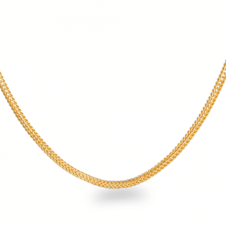 22ct Gold Foxtail Chain 20 Inches