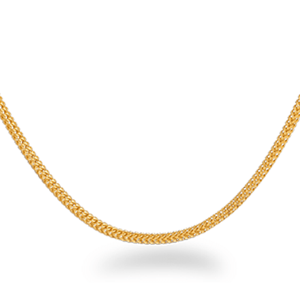 22ct Gold ChainWt : 9.4 gSKU. 28369Length. 22 InchesAll prices include VAT22ct Gold Hallmarked by London Assay OfficeComes With Presentation BoxDelivery IncludedLive chat with us for availability and more images of similar designs currently in stock