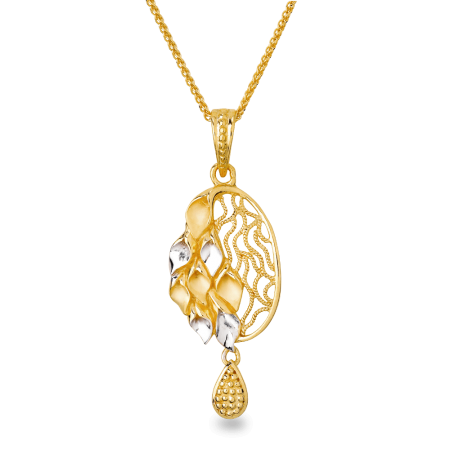 22ct Gold Filigree Pendant