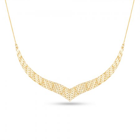 22ct Gold Necklace V Choker /Stiff Neck YGNC009
