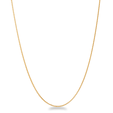 22ct Gold Chain 16 Inches Foxtail CHFX044
