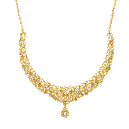 Bridal Necklace In 22ct GoldWith Polki StonesWt. 34.6 gSKU. 31101Matching Earrings are Available for this NecklaceAll prices include VATAll our Products are Hallmarked by London Assay OfficeAll Set Comes With Presentation BoxDelivery IncludedChat with us to view the new range of Indian Bridal gold necklace and earring set uk available in our store at forest gate, London,UK