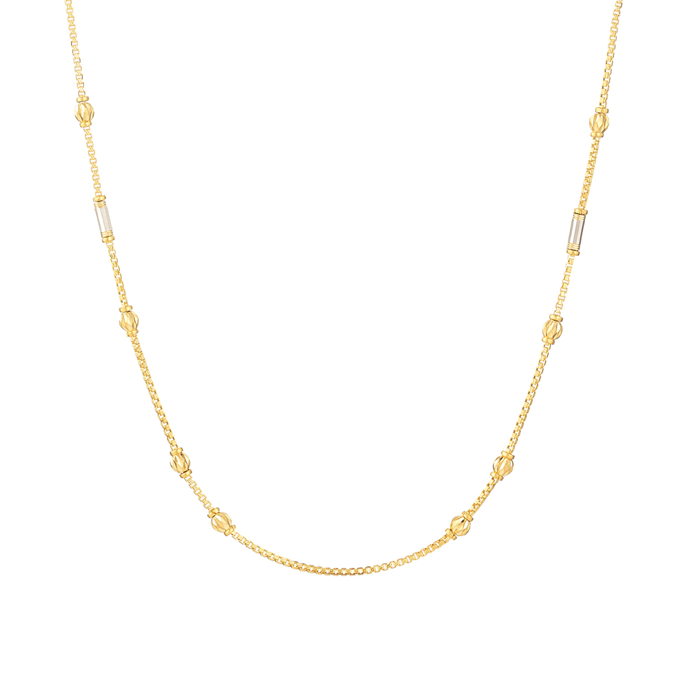 22 Kt Gold Choker chainWith RhodiumWt 9.3 gLength : 18 InchesSKU. 31129All prices include VAT22ct GoldHallmarked by London Assay OfficeComes With Presentation BoxDelivery IncludedLive chat with us for availability and more images of similar designs currently in stock