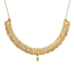 22ct Gold Indian Bridal NecklaceMade in 22ct Yellow Gold With Antique FinishWt: 39.4 gSku 31235All prices include VATAll our products are hallmarked by London Assay OfficeAll set comes with presentation BoxDelivery IncludedLive chat with us for availability and more images of similar designs currently in stock