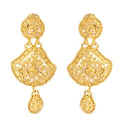 22ct Gold Indian Bridal Earring