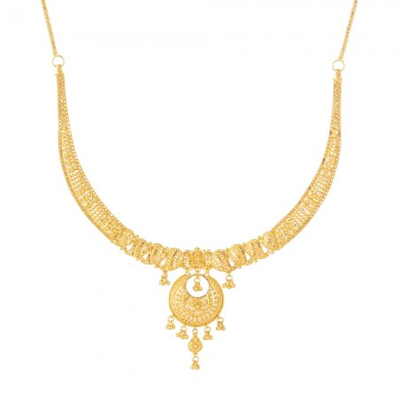 22ct Gold Indian Necklace
