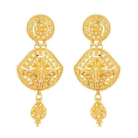 22ct Gold Indian Bridal EarringMade in 22ct Yellow GoldWt: 8.7 gSku 31239All prices include VATAll our products are hallmarked by London Assay OfficeAll set comes with presentation BoxDelivery IncludedLive chat with us for availability and more images of similar designs currently in stock