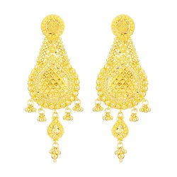 22 Carat Gold Filigree Earringwt. 16.3gSku 32380All prices include VATAll our products are hallmarked by London Assay OfficeAll Pure Gold earrings Comes With Presentation BoxDelivery IncludedLive chat with us on Whatsapp for more images and video of our Indian style Bridal Earrings.