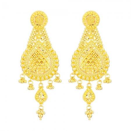 22 Carat Gold Filigree Earring