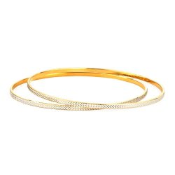 22ct Gold Bangle Plain Daily Wear YGBG106