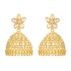 22ct Gold Earring With Uncut Polki DiamondsUncut Polki Diamond wt. 3.86CaratsWeight of the Earring in 22ct gold is 15.5 gmsSKU. 32664All prices include VATAll 22 Carat Gold Earrings are hallmarked by London Assay OfficeComes With Presentation BoxDelivery IncludedLive chat with us for availability and more images of designer Wedding earrings currently in stock