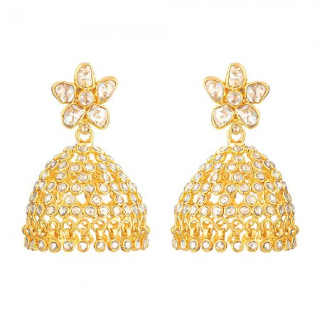 22ct Gold Polki Earrings