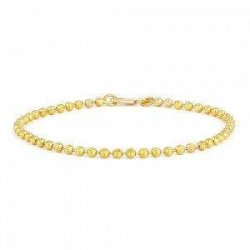 22ct Gold Baby Bracelet Yellow Beads YGBT041