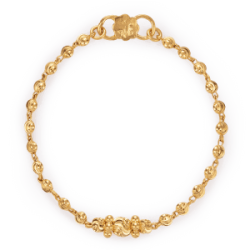 22ct Gold Light Yellow Beads Baby Bracelet YGBT010