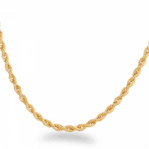 22ct Gold Light Rope Chain CHRO252