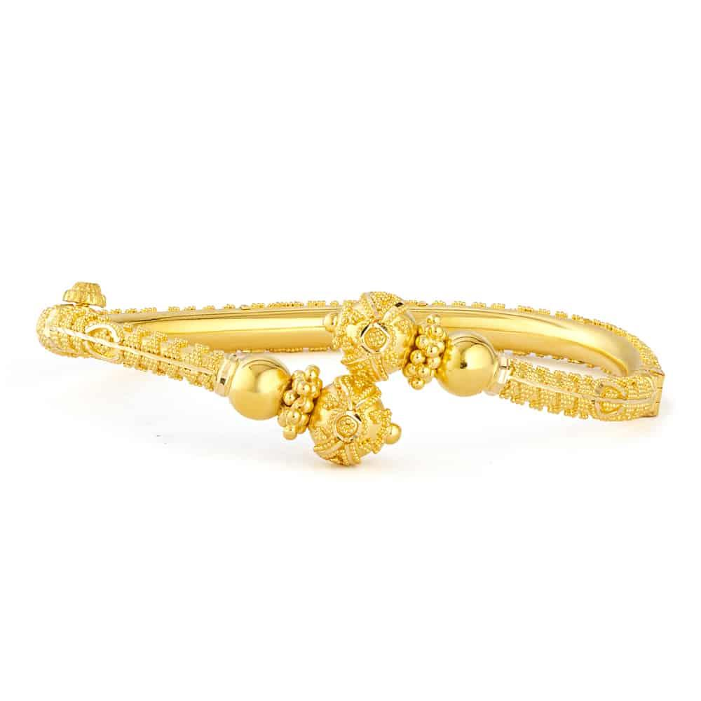 Jali Collection 22ct Gold Kada Screw JLKD412