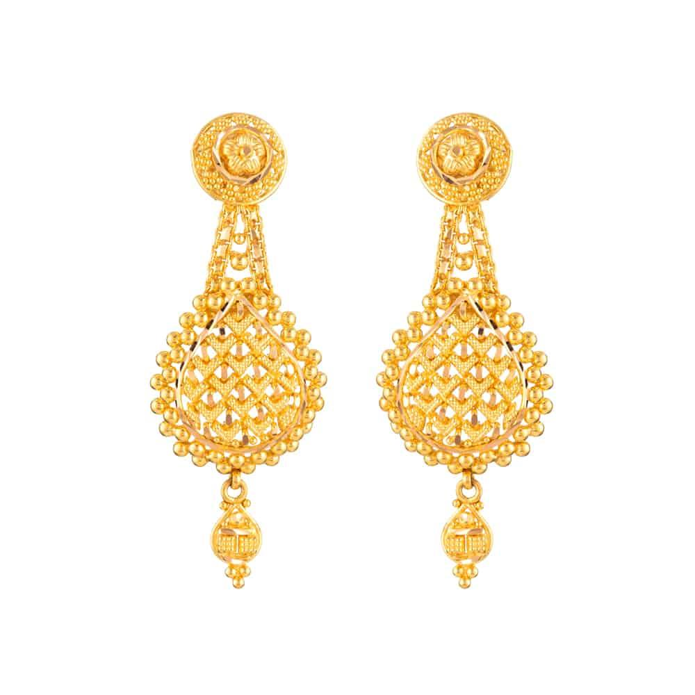 22ct Gold Indian Bridal EarringMade in 22ct Yellow GoldWt: 8.2 gSku 31919All prices include VATAll our products are hallmarked by London Assay OfficeAll set comes with presentation BoxDelivery IncludedLive chat with us for availability and more images of similar designs currently in stock