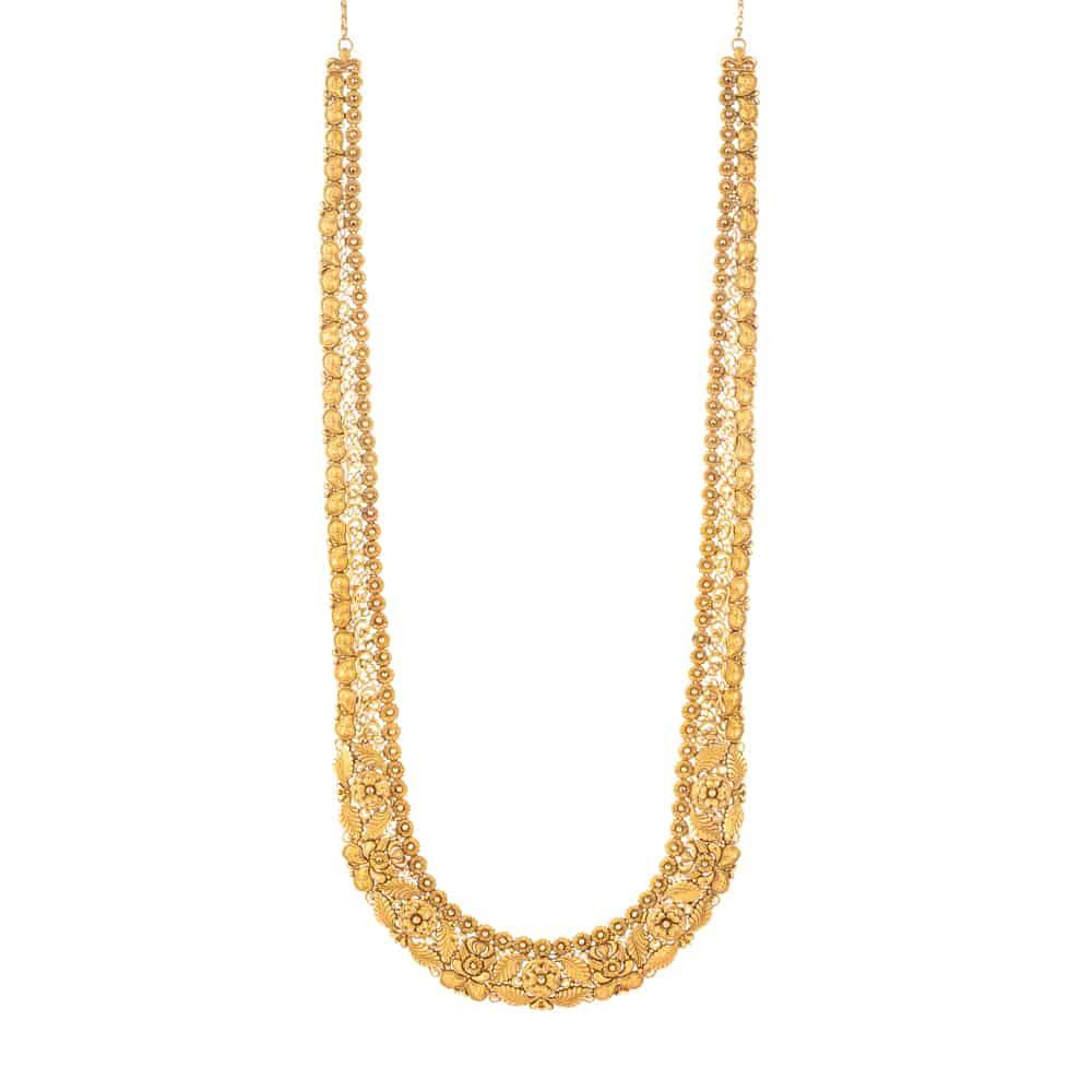 22 Carat Gold Necklace With Antique FinishWt. 81.8gSKU. 31957All prices include VAT22ct GoldHallmarked by London Assay OfficeComes With Presentation BoxDelivery IncludedLive chat with us for availability and more images of similar designs currently in stock
