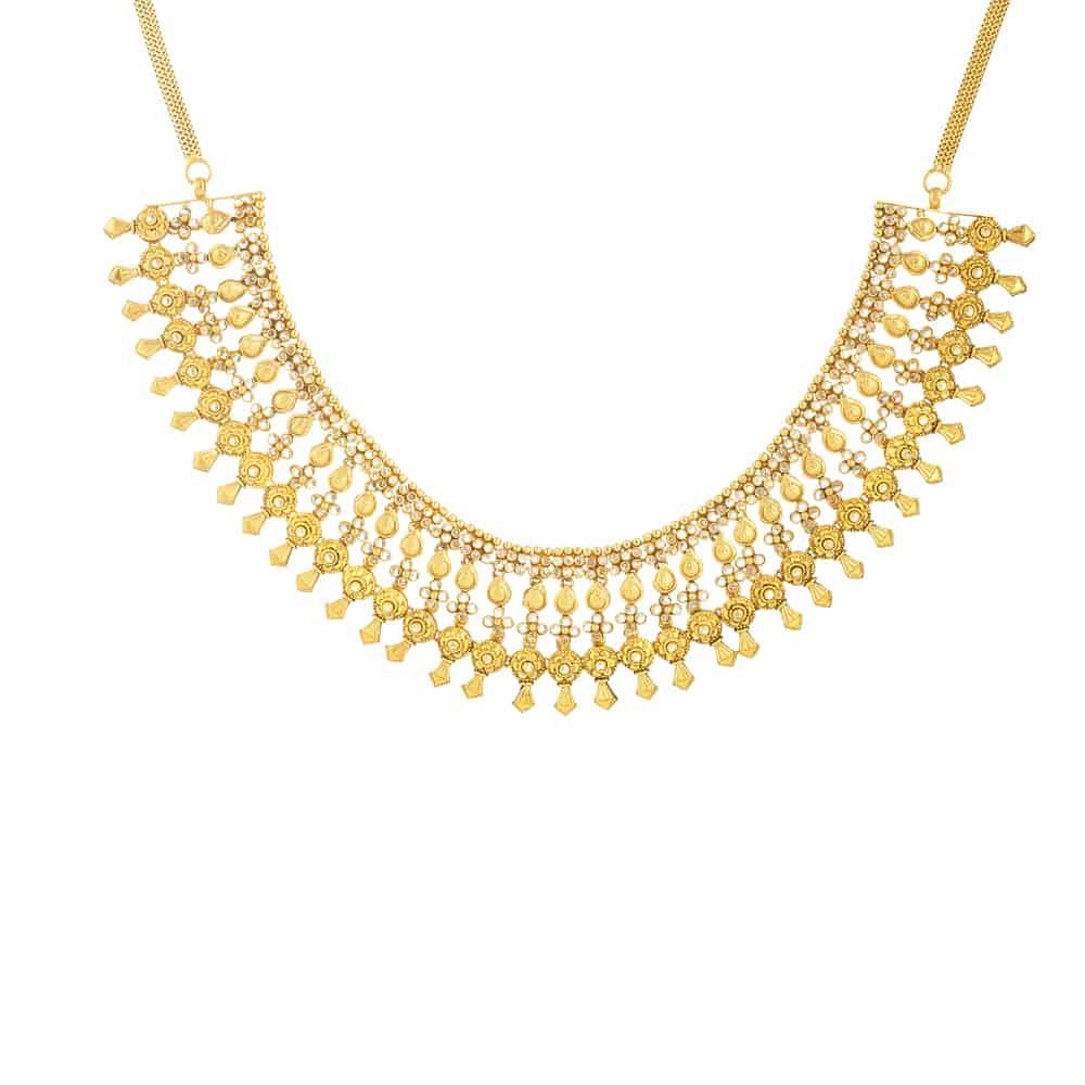 22ct Gold Bridal Necklace with Polki StonesWt. 80.90gAll prices include VAT22ct Gold Hallmarked by London Assay OfficeAll Sets Comes With Presentation BoxDelivery IncludedLive chat with us for availability and more images of similar designs currently in stock