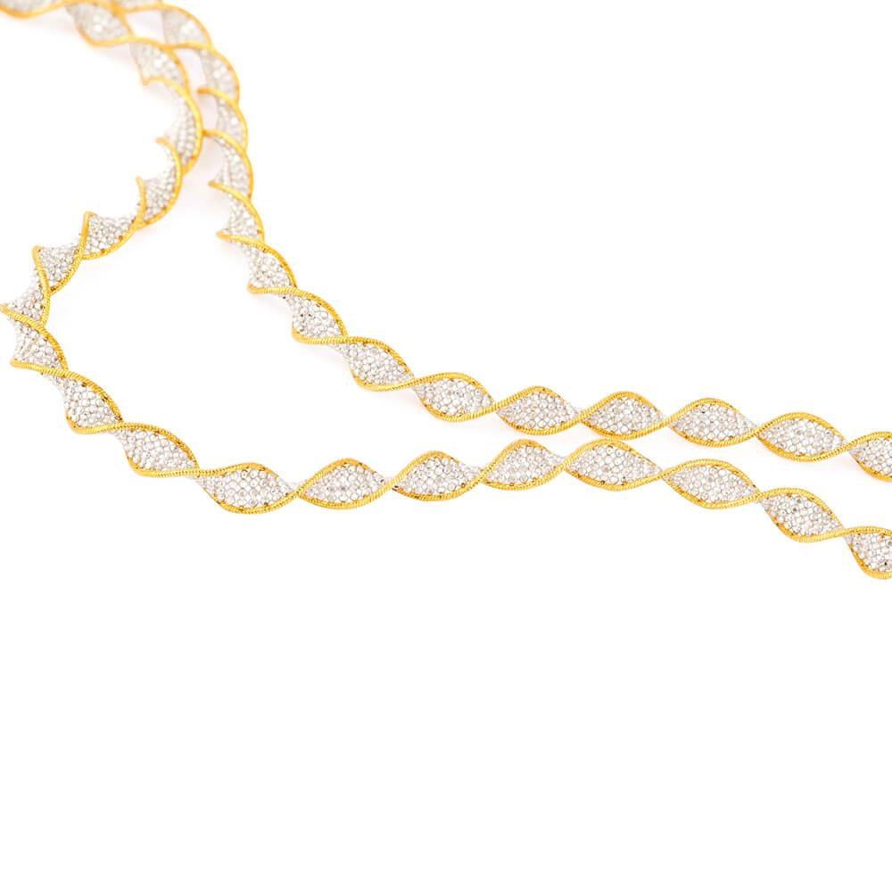 22ct Gold Necklace Fancy Twisted YGNC047